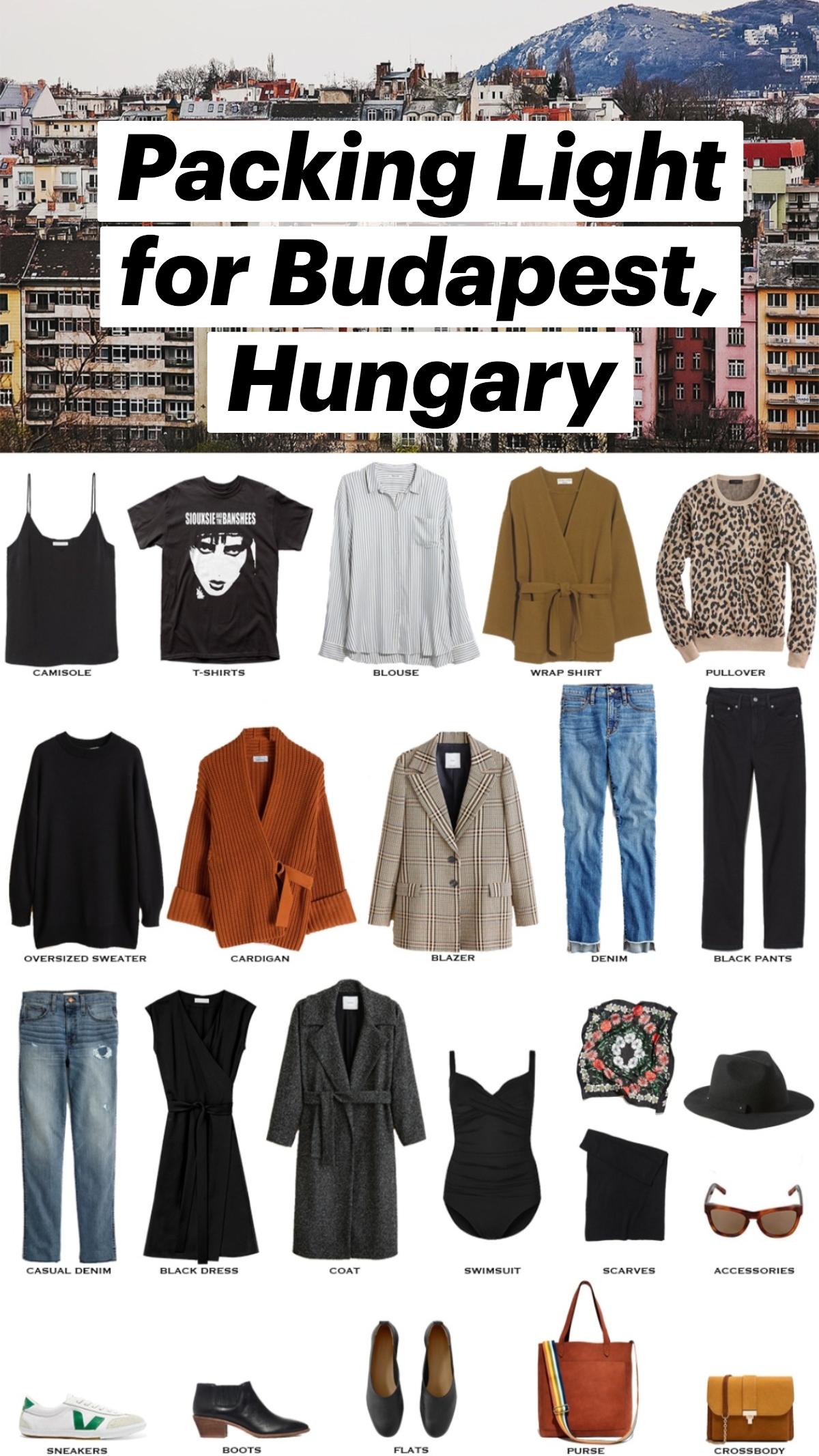 Packing Light for Budapest, Hungary