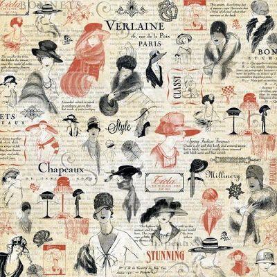 Imprimolandia: Papeles de decoupage vintage