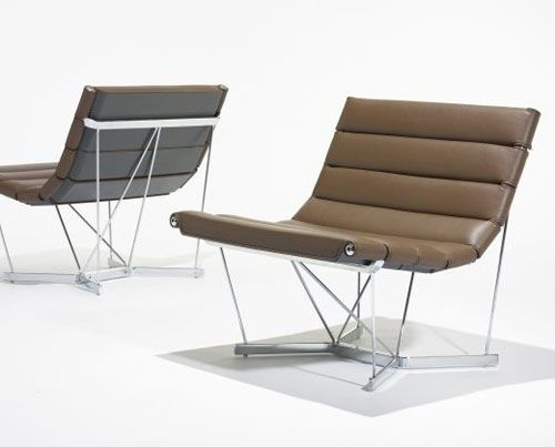 Wonderful Pair Of Vintage Catenary Chairs, Designed By George Nelson And Associates,  1962; Leather