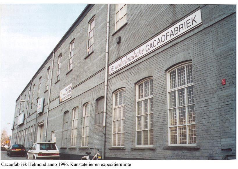 De Cacaofabriek in 1996: kunstatelier en expositieruimte