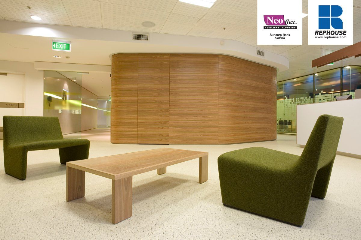 Neoflex 600 Series Commercial Resilient Rubber Flooring @ Suncorp Group Limited, Sydney, Australia