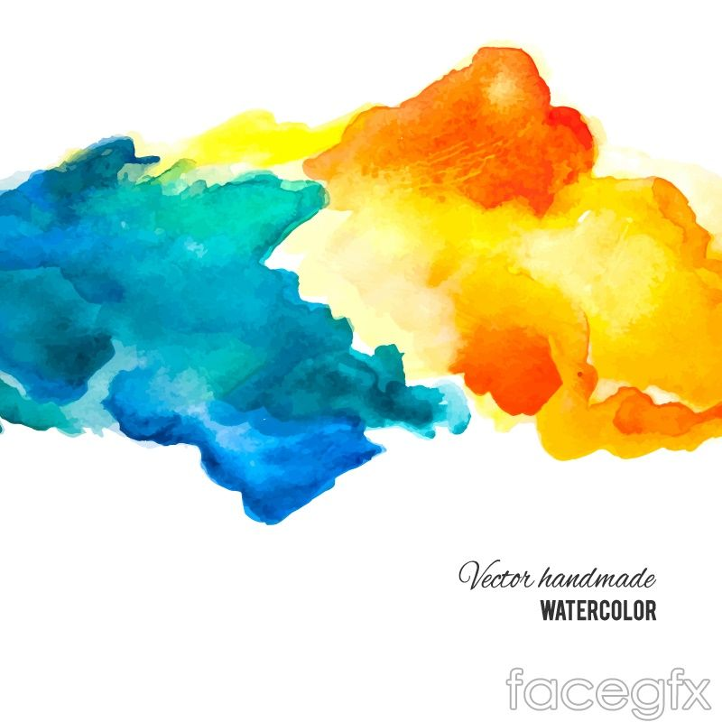 Blue And Orange Ink Background Vector For Free Download