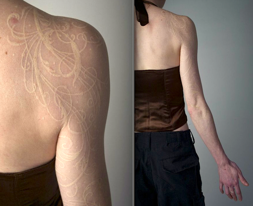 White ink tattoo. Artist: Watson Atkinson, Portland, Maine. www ...