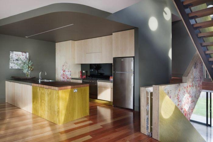 wandfarbe küche graue wandgestaltung kücheninsel - kche wandfarben