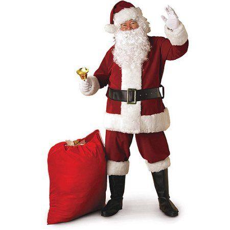 569eaa2f5c84 Crimson Regency Plush Santa Adult Costume - Walmart.com Sc 1 St Pinterest