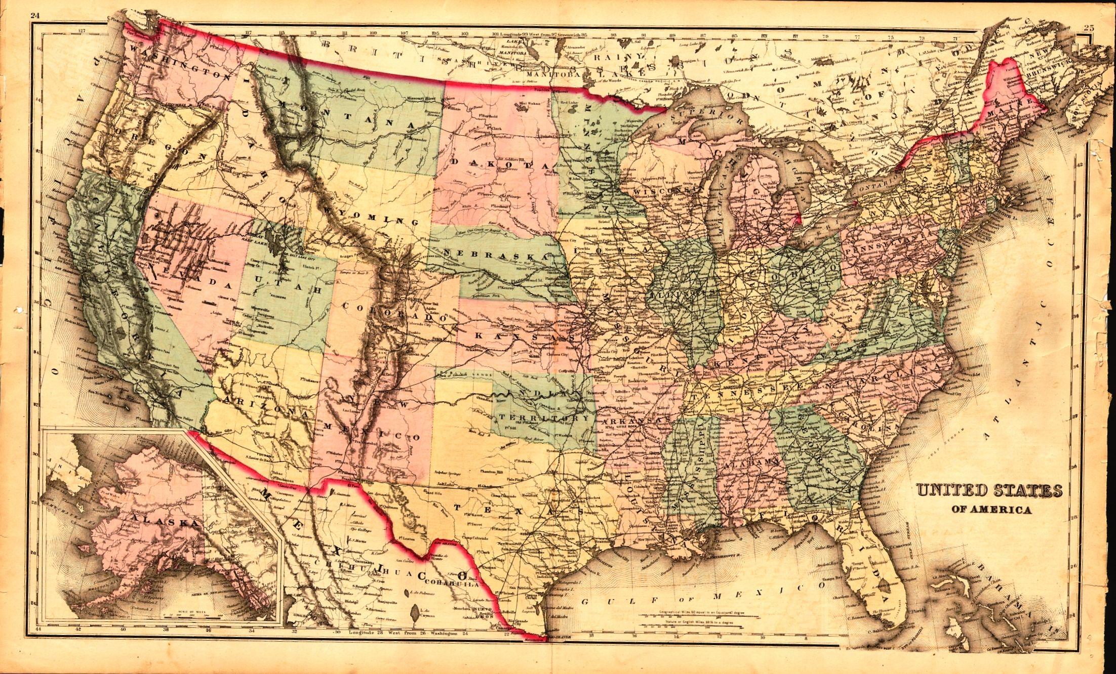 Us Maps Vintage Us Maps Of The World - Usa map vintage