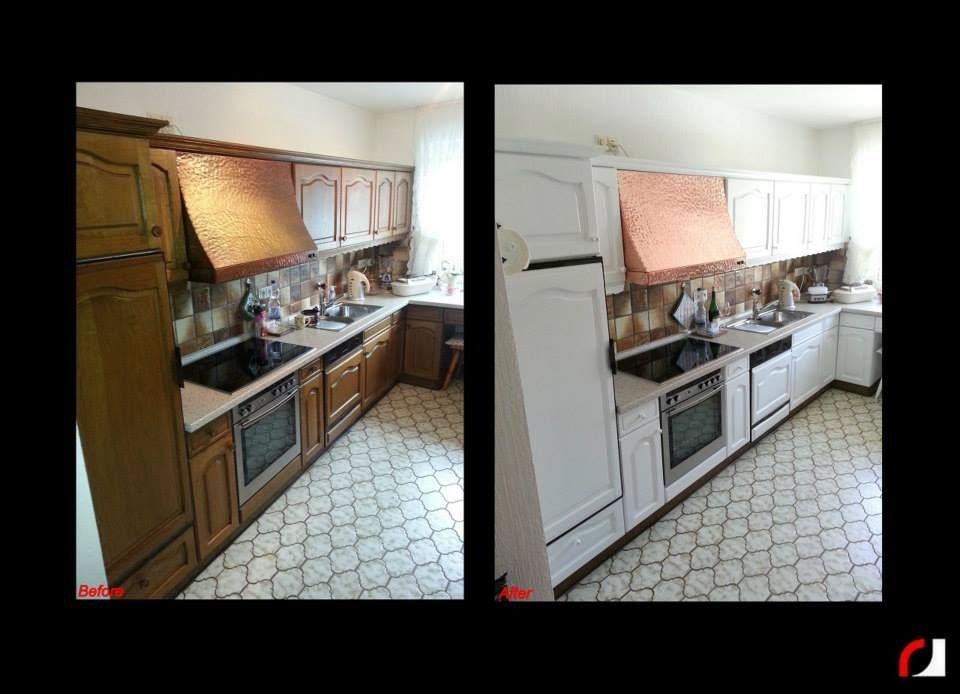 Eiken houten keuken in wit gespoten! (2) #Spuiterij #Verven ...