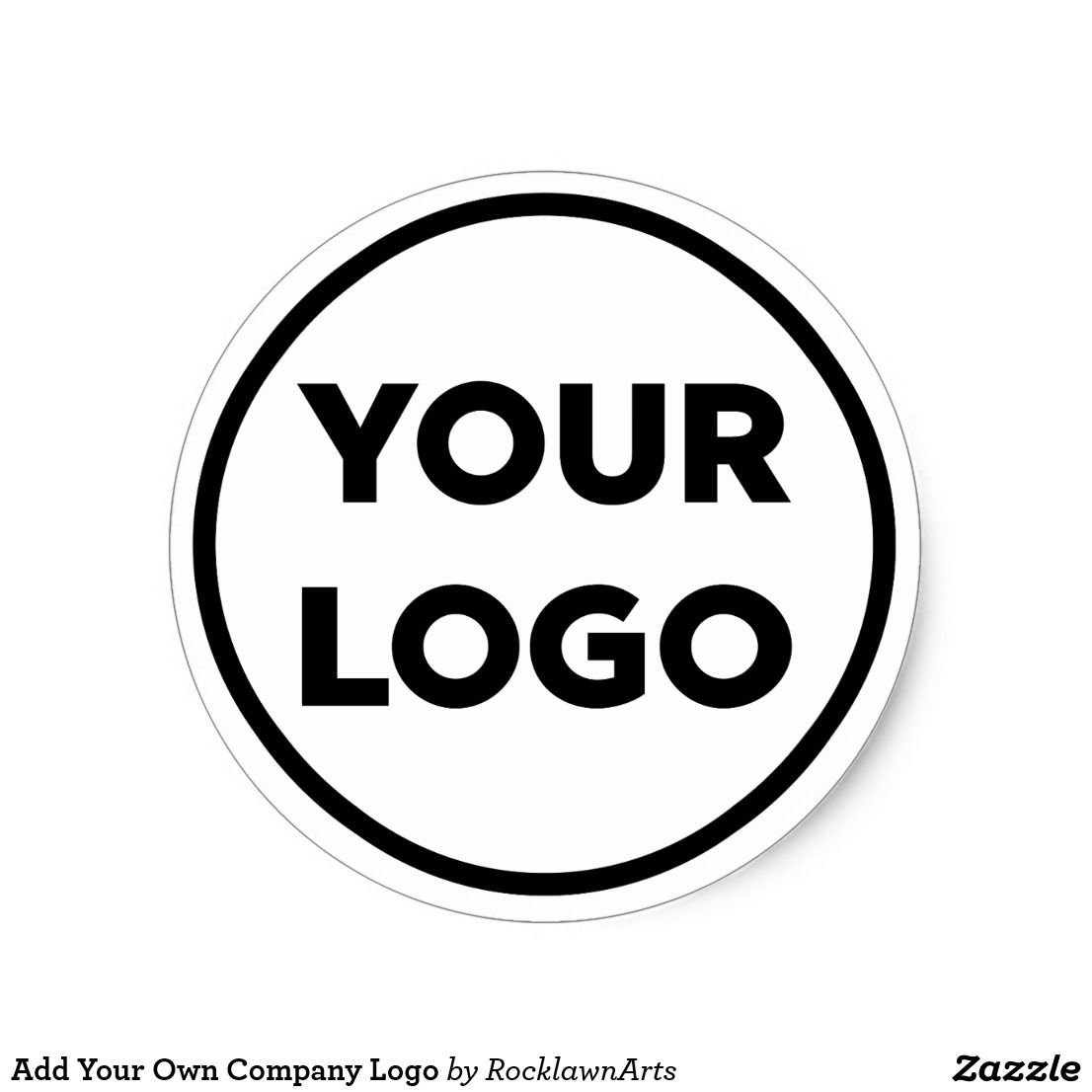 Add your own company logo classic round stickers they make great branded envelope and package seals click to customize it at rocklawn arts on zazzle