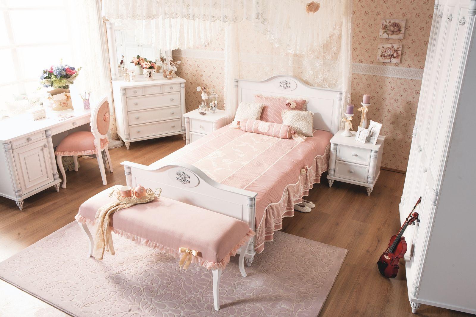 Romantic meisjes bed kinderkamer inspiratie prinsessenkamer