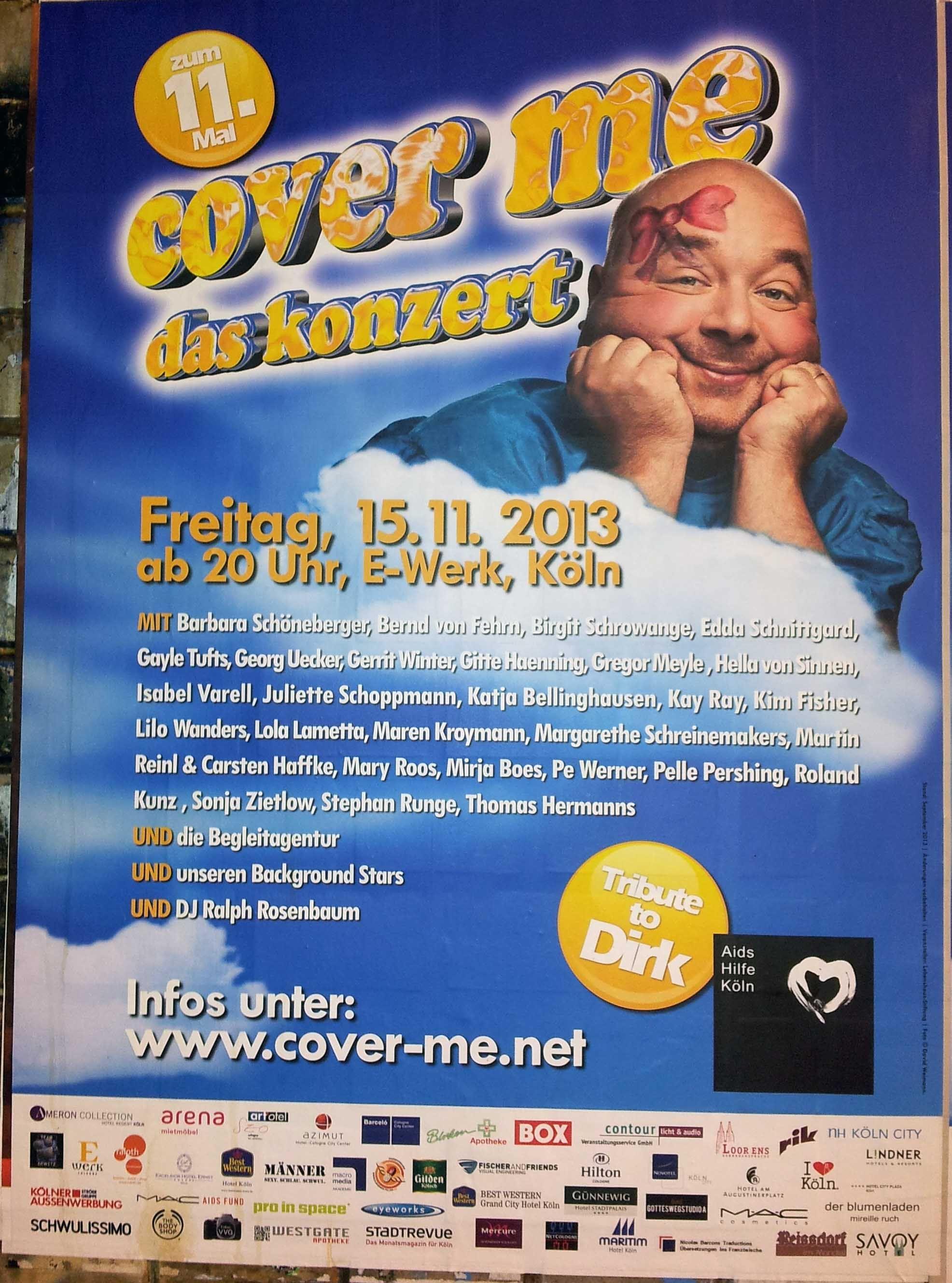 Flachenplakatierung Poster Plakat Tribute To Dirk Bach Plakat Schoppen Leben