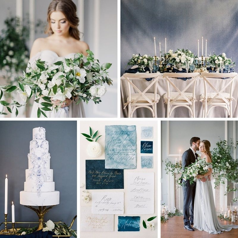 Modern Renaissance Dreamy Vintage Wedding Inspiration In Serenity Blue
