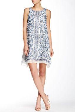 Sleeveless A-Line Scarf Dress