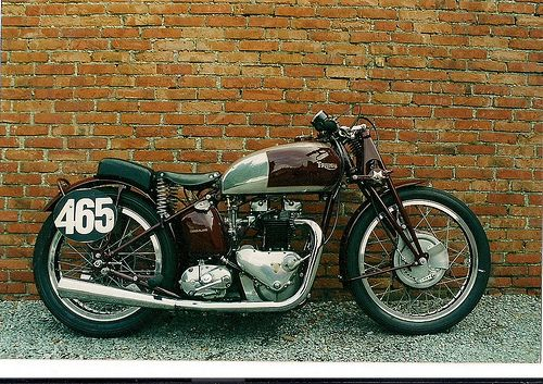 triumph 500 cafe racer | Triumph 500 Speed twin 1938 ( Be ) , a photo by vintage-revival on ...