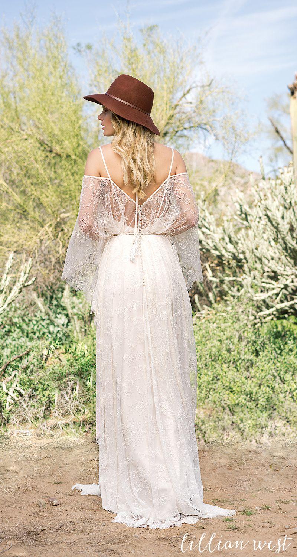 Style 6523: Bikini Top Draped Gown with Self-Tie Waist #lillianwest ...
