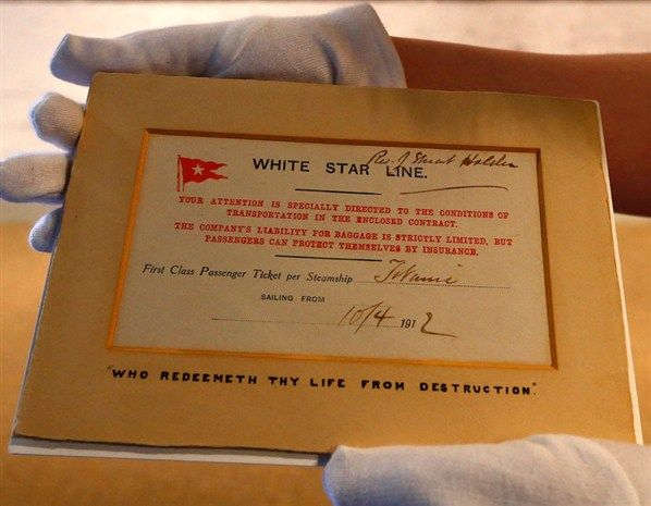 This is the only known surviving first class ticket from Titanic, which is on display at the Merseyside Maritime Museum.