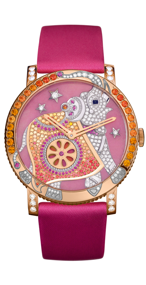 Sweetest elephant watch with diamonds, rubies and sapphires.  Yes please...if a million dropped my way...From Boucheron, only $80,000