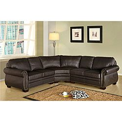 Bentley Italian Leather Sectional. This Sofa Features Top Grain Leather,  Rolled Armrests...now To Get The Price Of $2100 Down To $500