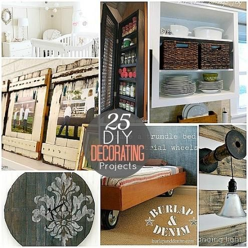 25 DIY Home Decorating Projects | BEAUTIFUL THINGS | Pinterest ...