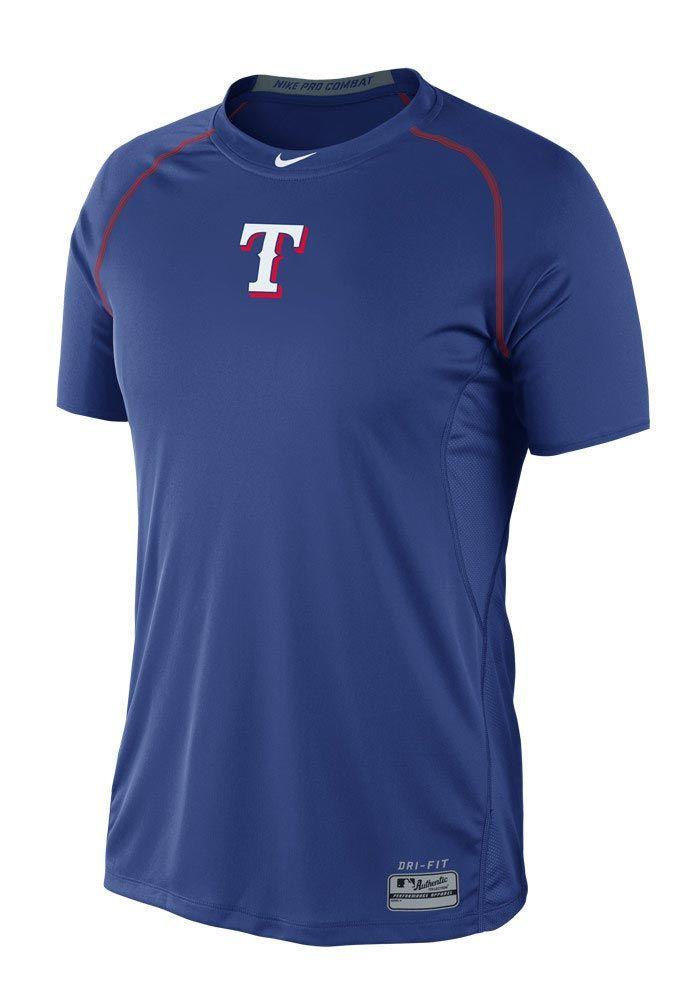 422e01363b5 Texas Rangers Nike Mens Royal Blue Core Raglan Dri-FIT T-Shirt http