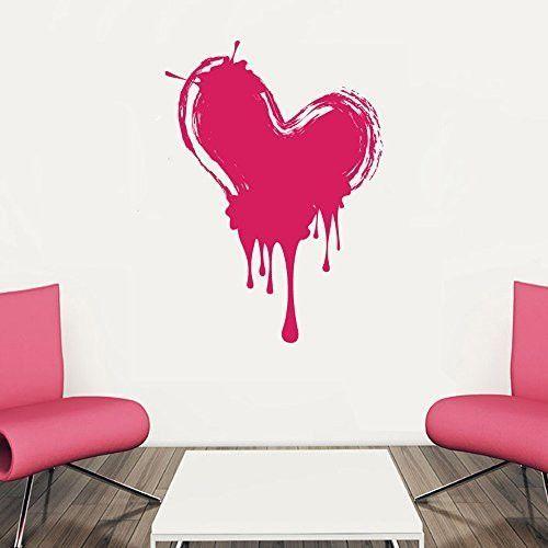 Paint Drips Splatter Graffiti Heart Vinyl Wall Words Decal Sticker - Make custom vinyl wall decalsvinyl wall decal sticker paint dripping s wall decals attic