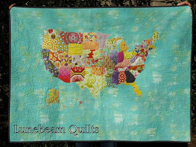 United Scraps of America Quilt, USA quilt by Lunebeam Quilts | USA ... : quilts usa - Adamdwight.com