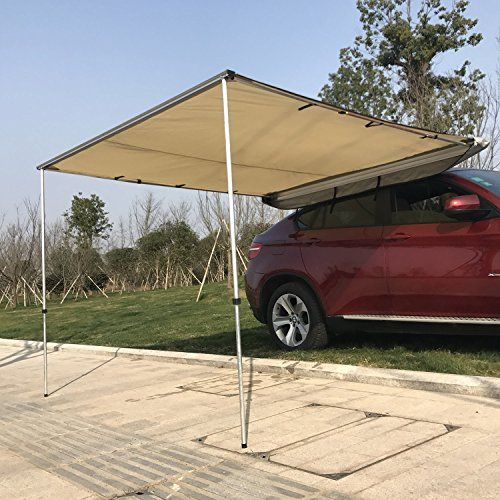 Suv Camping Table Outsunny Car Awning Portable Folding Retractable Rooftop Sun Shade Shelter Large More Info Could B Car Awnings Tent Awning Car Tent