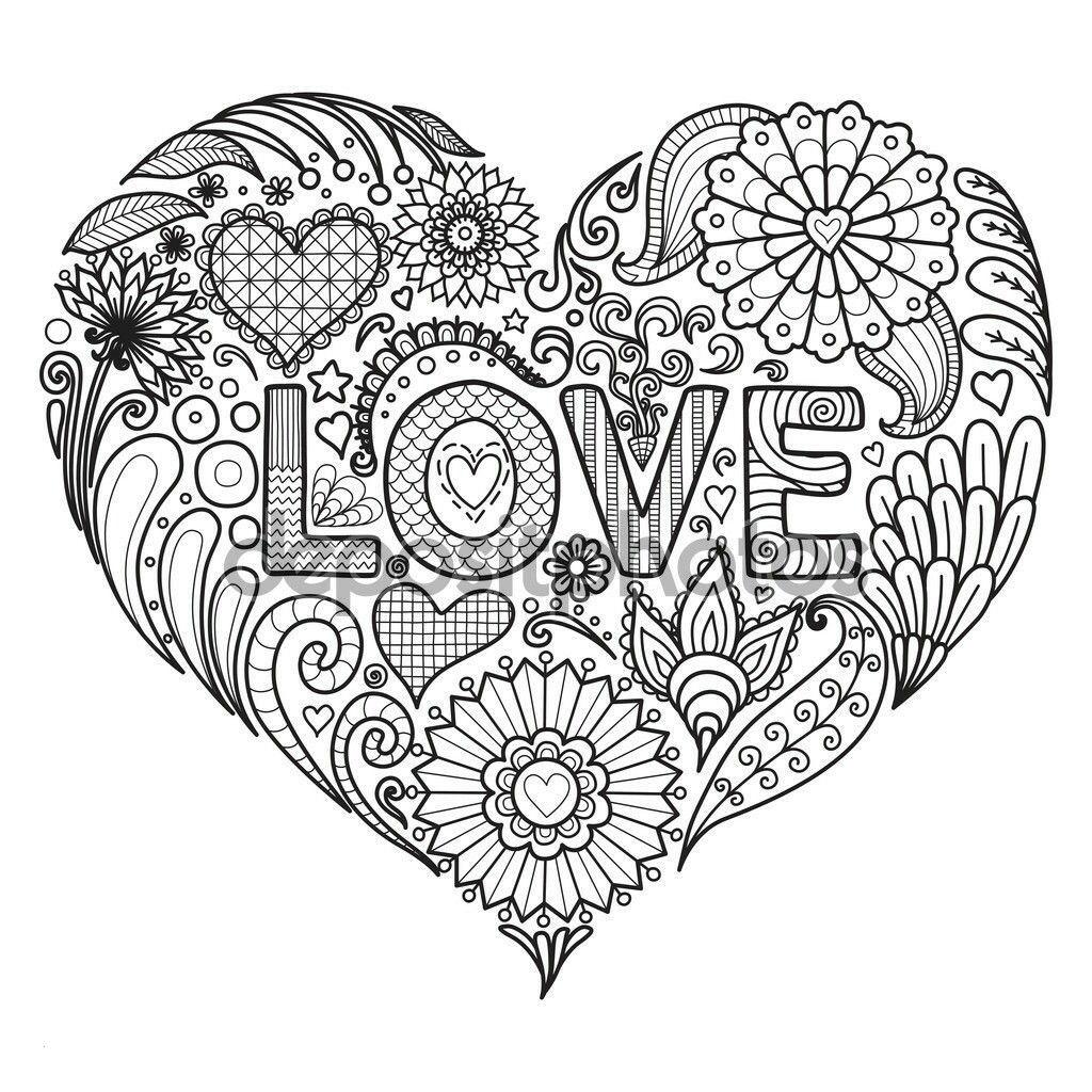 Pin Von Bastelmami Auf Herz Malvorlagen Herz Ausmalbild Mandala Zum Ausdrucken Herz Malvorlage