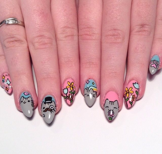 Pusheen cat nails | nails | Pinterest | Pusheen cat, Cat nails and ...