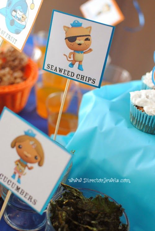 Octonauts Birthday Party Food Ideas Kale Seaweed Chips Under the