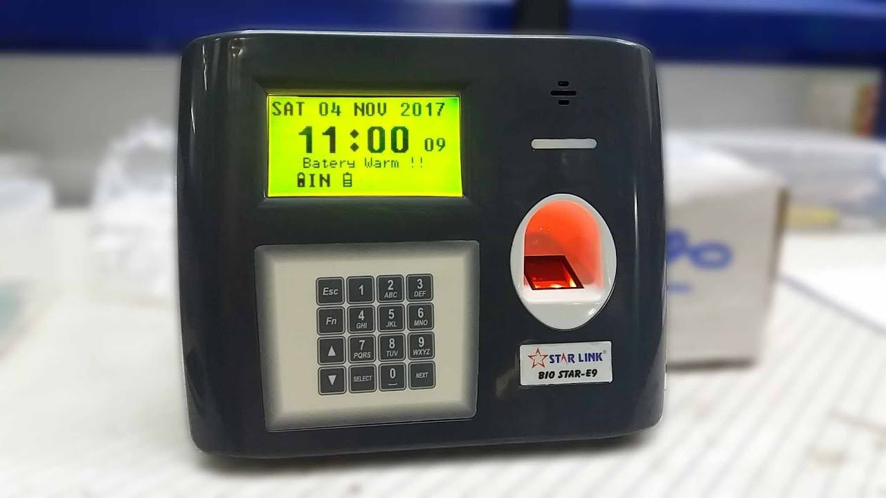 Biometric Attendance System with Battery Back Up   Bio STAR