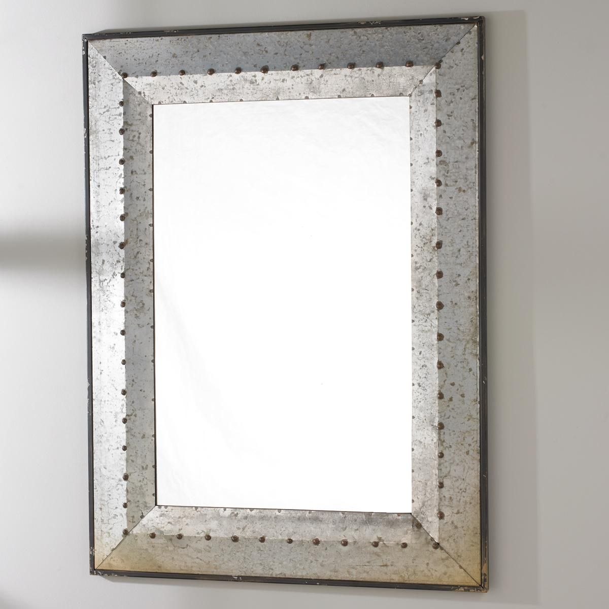 Metal Industrial Rivet Mirror Tin Mirrors Metal Frame Mirror Mirror Frame Diy