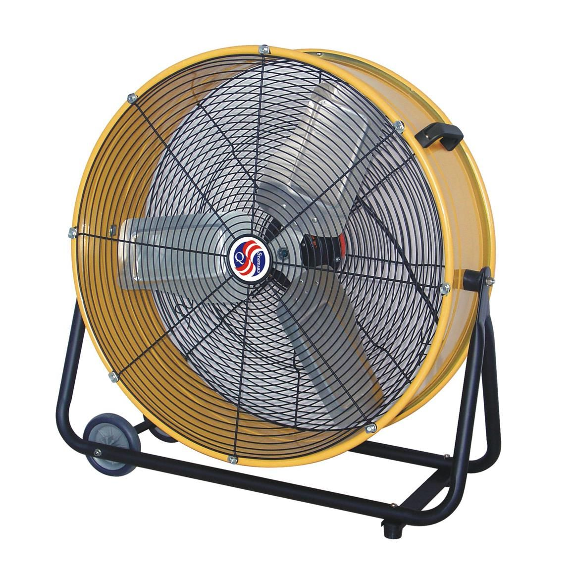 "Q Standard Classic Cooler Drum Fan, 23"" Fan, Floor fans"