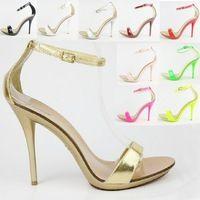 O Hot venda de moda verão sapatos sandálias das mulheres mais tamanho grande 34-42 toe aberto de salto alto cor 10 4040 Sapatos Femininos sandalias