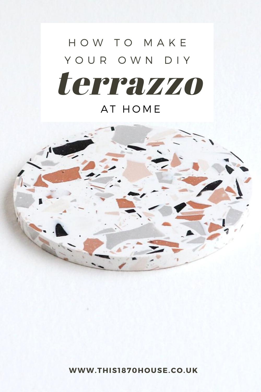 DIY Terrazzo Tutorial in 2020 Cement diy, Diy air dry