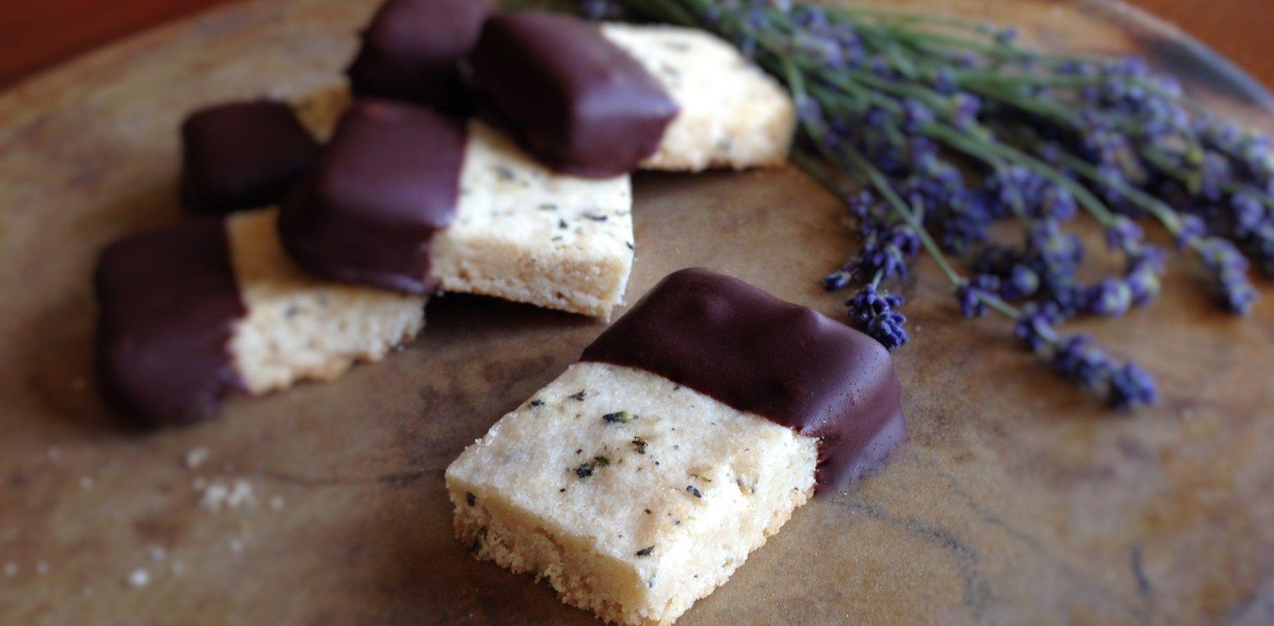 Honey Lavender Shortbread #Gluten Free