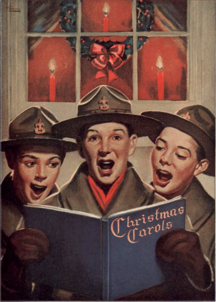 Image result for scout christmas caroling