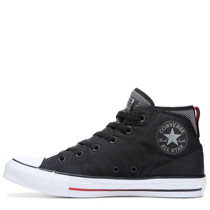 892a5d43c12 Converse Men s Chuck Taylor All Star Syde Street Mid Top Sneakers  (Black White Red)