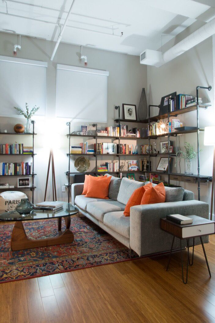 pinthe small woodshop on industrial shelving  home