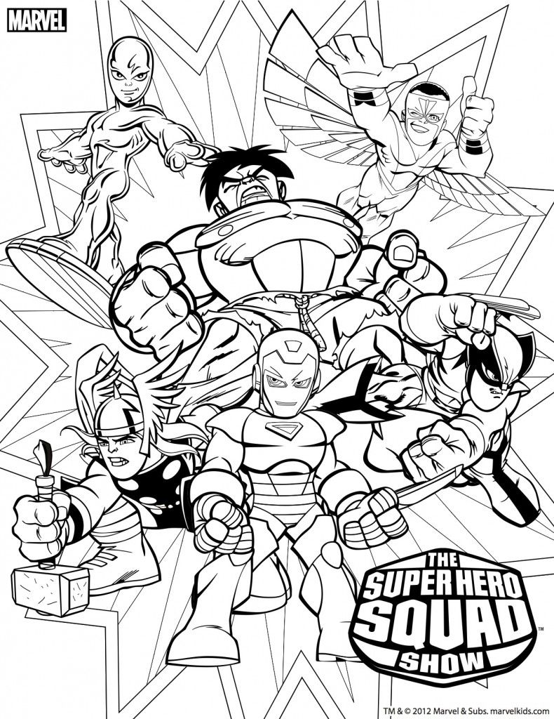 Marvel Heroes Squad Colouring Pages Superhero Coloring Pages Cartoon Coloring Pages Marvel Coloring