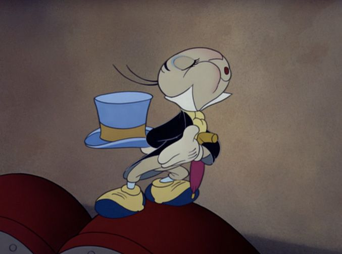 Jiminy Cricket - It's hard out there for a cricket who's tasked with teaching a young puppet to be a well behaved young boy. But Jiminy makes it look easy with his spats, cravat, and light blue hat. You can never go wrong with a functional accessory, and Jiminy has that going on with his ever-present umbrella.