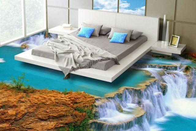 Des sols à effet 3D en résine | Plancher de chambre ...