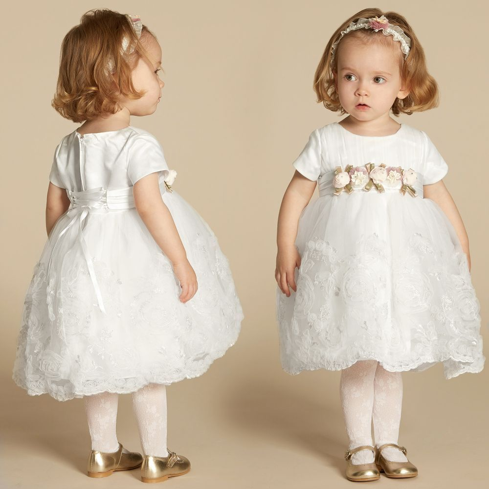f1c27dc5906c Romano Princess baby girls pretty ivory occasion dress made from ...