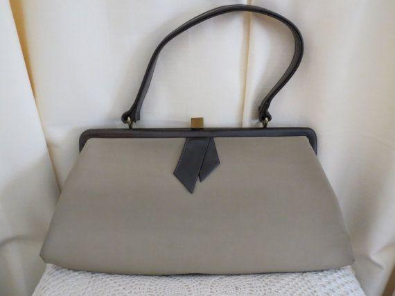 Vintage 40s 50s Australian Made Bonney Brown Leather Handbag Purse Brown Leather Handbags Leather Handbag Purse Leather Handbags