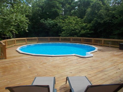 Above ground pool deck plans often focus on making the area ...