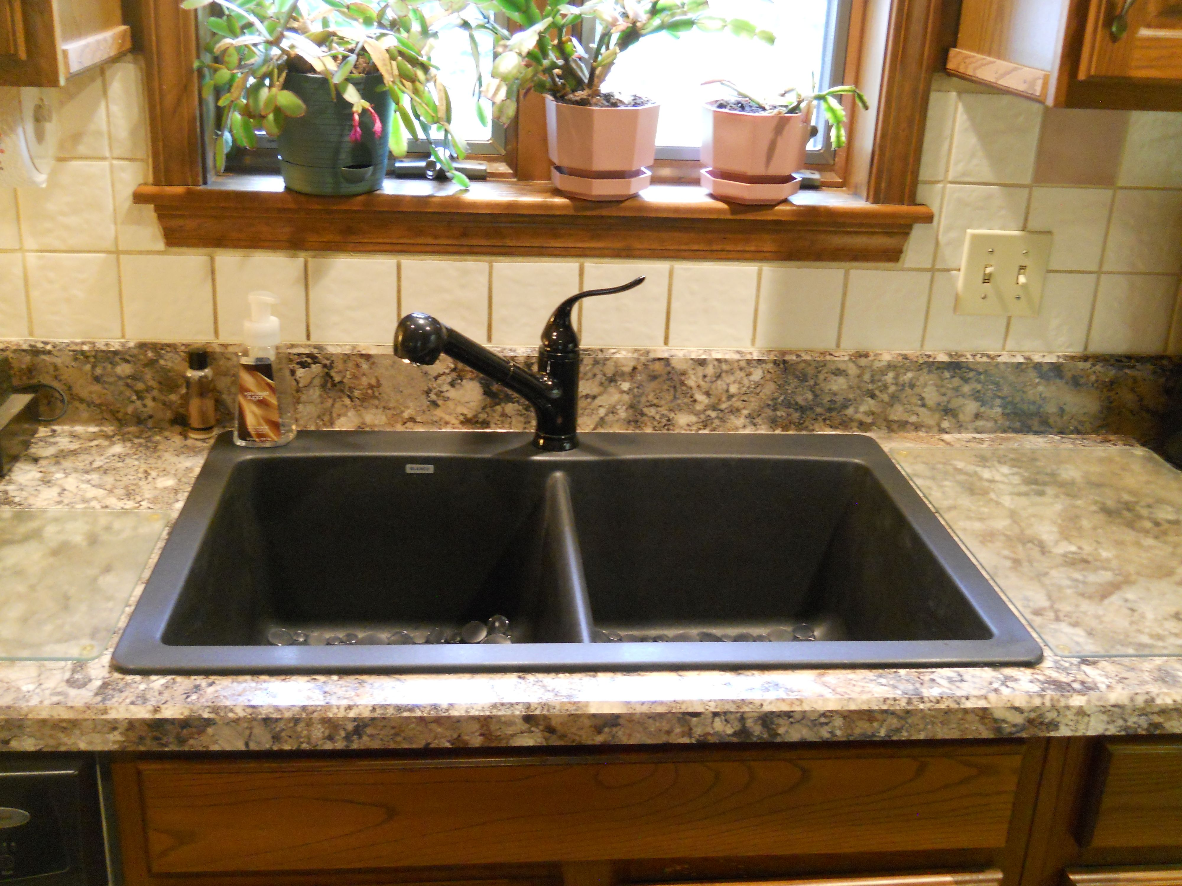 Wilsonart Winter Carnival Laminate, With Blanco Diamond Anthracite Sink And  Kohler Coralais Faucet