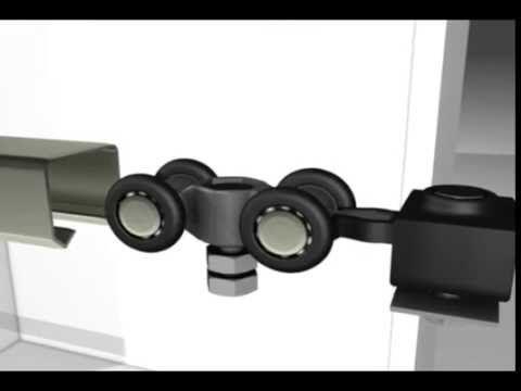 Sistema para puertas de closet - Frente de placard - YouTube