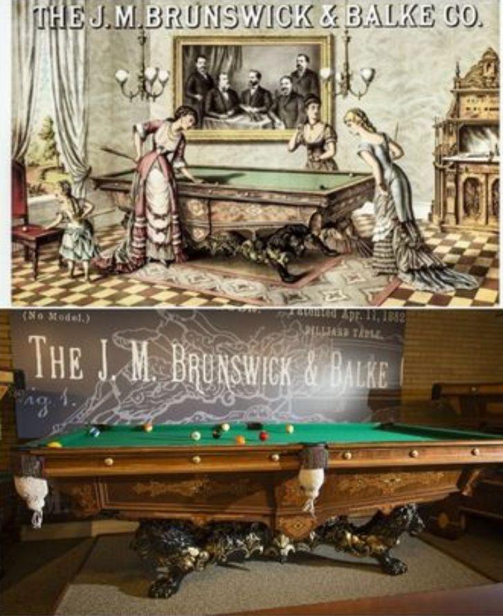 Brunswick Monarch Ss Antique Billiard Tables - Brunswick monarch pool table