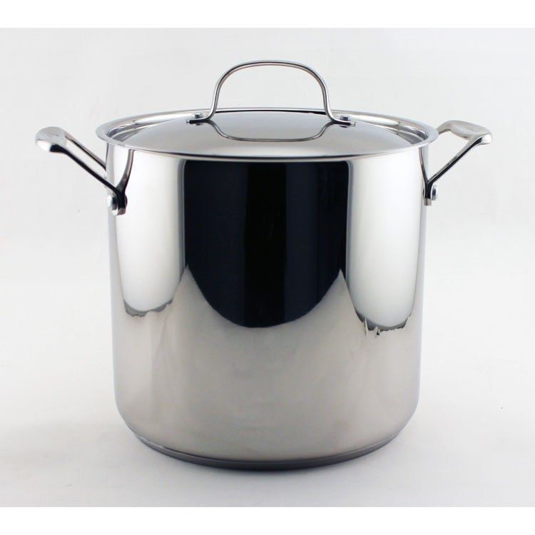 EarthChef 10-Quart 18/10 Stainless Steel Covered Stockpot