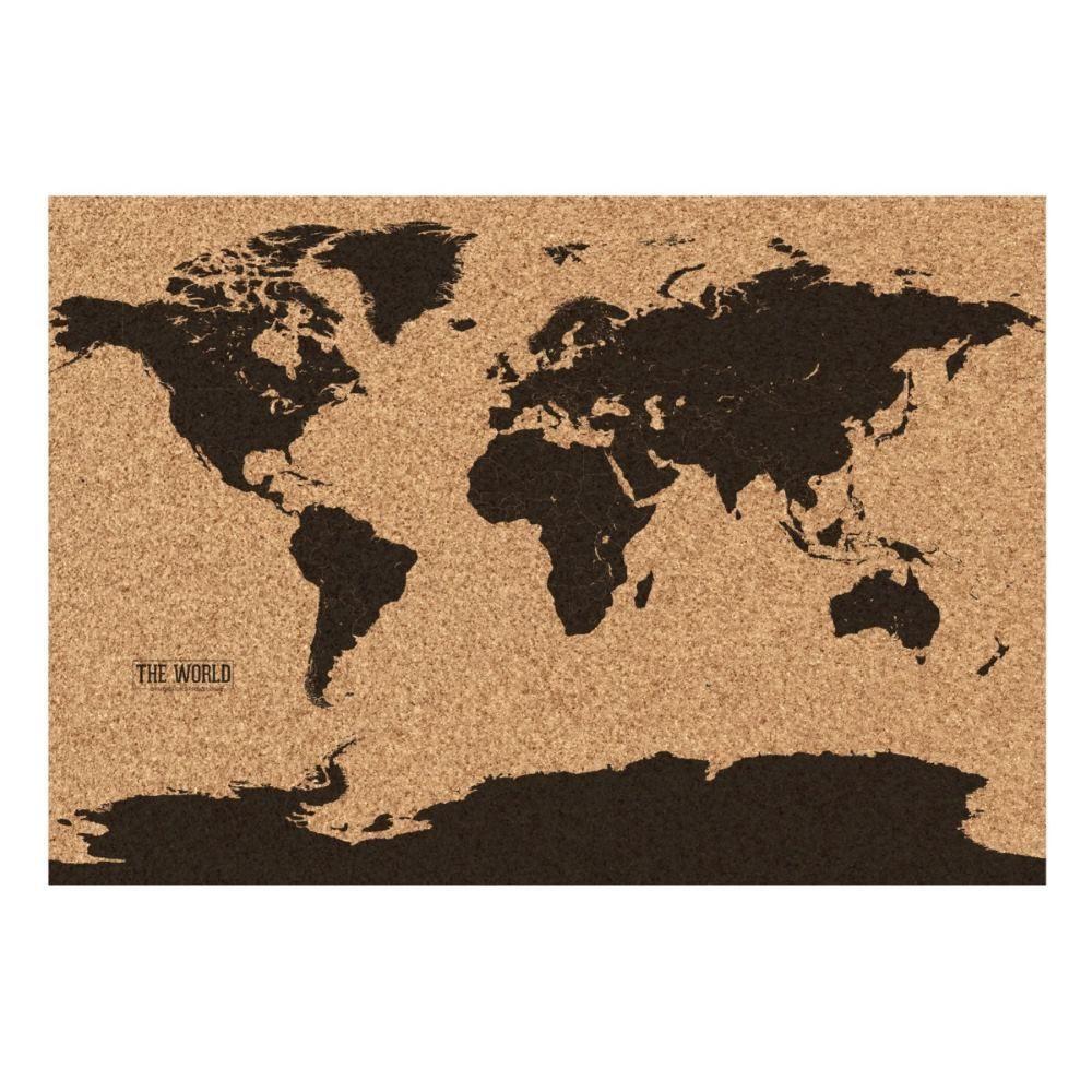 Gift republic corkboard world map atlas matte finish with 25x pins gift republic corkboard world map atlas matte finish with 25x pins gift tube gumiabroncs Images
