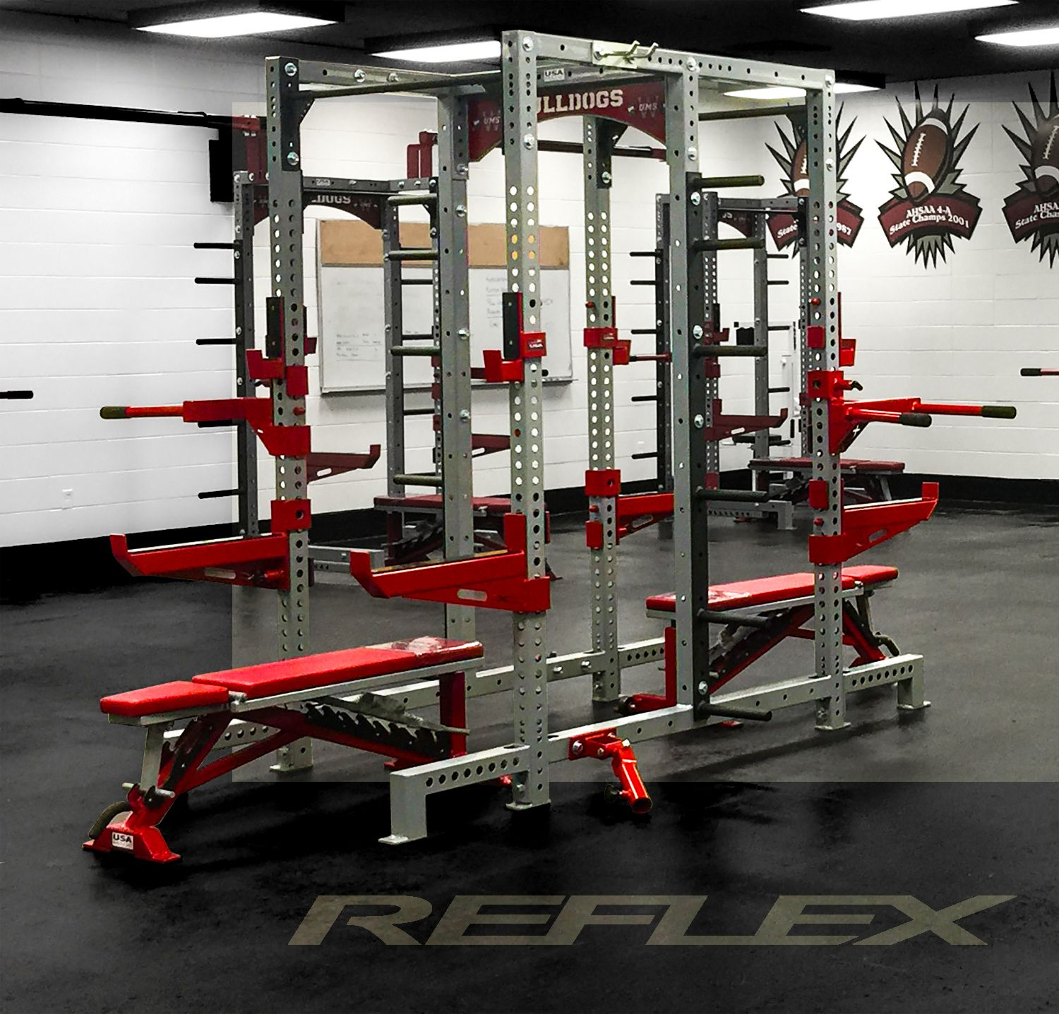 Double rack by reflex crypted molesting chambers garage gym